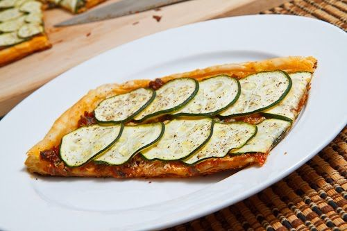 Zucchini and Sun Dried Tomato Pesto Parmesan Tart | Recipe