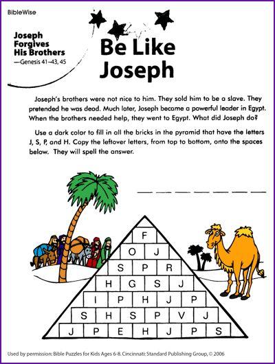 Be Like Joseph And Forgive Puzzle