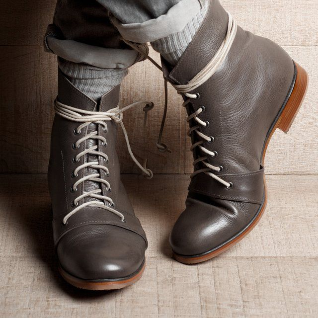 Grey Boots by Hard Graft