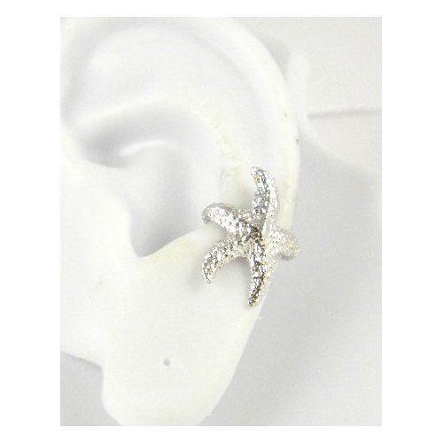 Sterling Silver Starfish Ear Cuff Left Earring