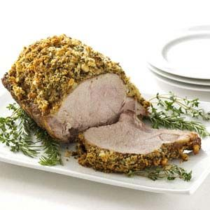 Herb-Crusted Pork Roast Recipe - (added egg to bread mixture to make ...
