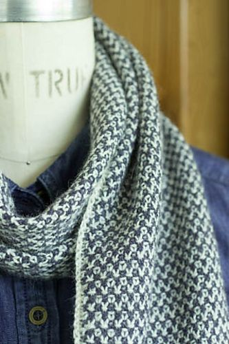 Two Color Scarf Knitting Pattern : Two-Tone Twill Scarf pattern by Churchmouse Yarns and Teas