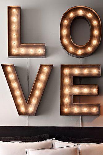 vintage illuminated marquee letters
