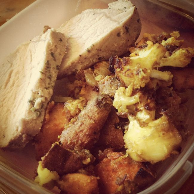 pork tenderloin with curry roasted sweet potatoes onion and ...