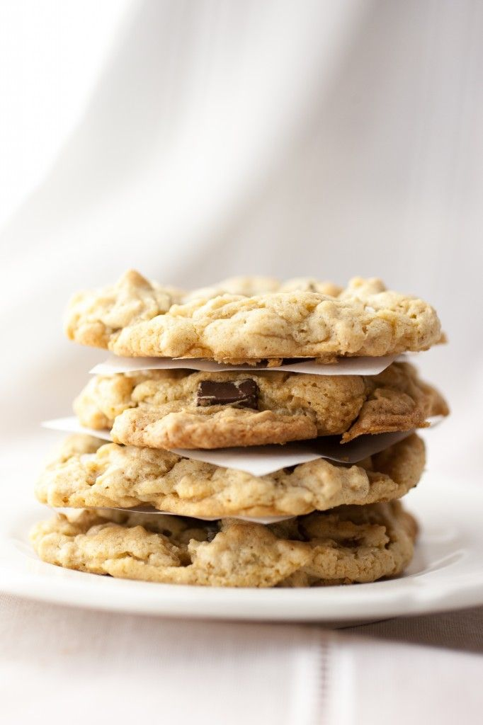 Vegan Salted Peanut Butter Chocolate Chip Oatmeal Cookies
