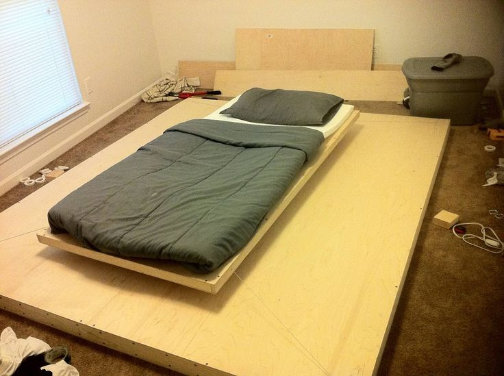 Construction of a levitating bed