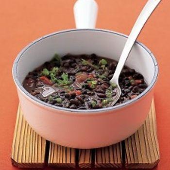 Soupy Black Beans Recipe - ZipList   healthy living   Pinterest
