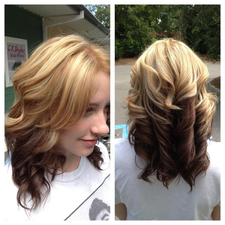 Reverse Ombre Hairdos Pinterest