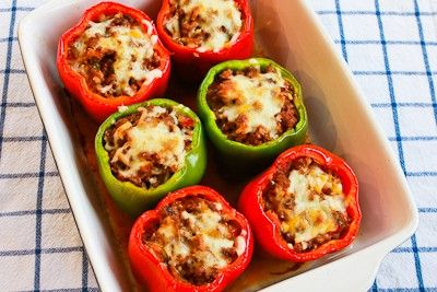 ... Stuffed Peppers Recipe with Turkey Italian Sausage, Ground Beef, and