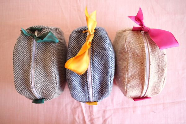 Pouches from Men's Wear  / Oh Happy Day #diy #crafty