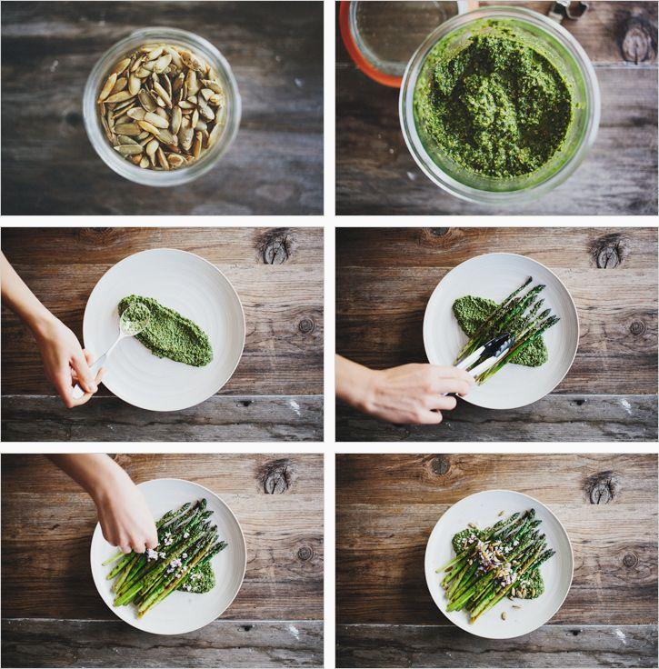 Grilled Asparagus & Cilantro Pepita Pesto   Sprouted Kitchen