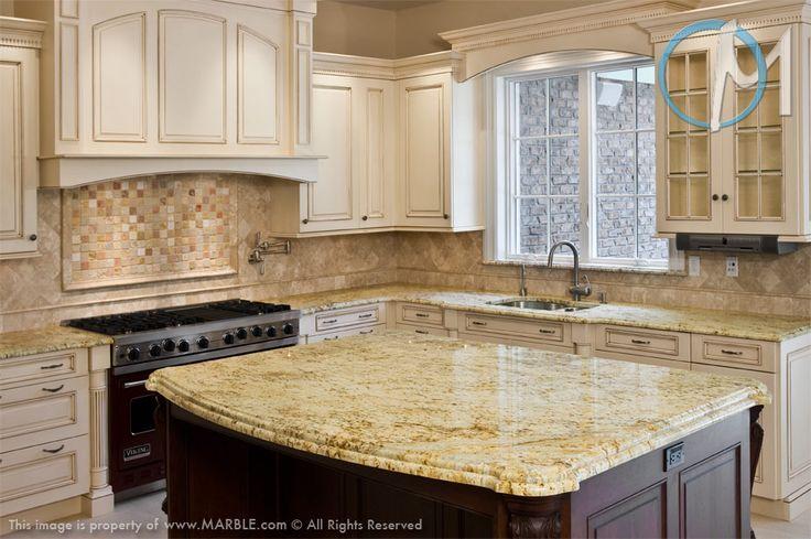 Venetian Gold Granite With White Cabinets Exotic Gold Granite In