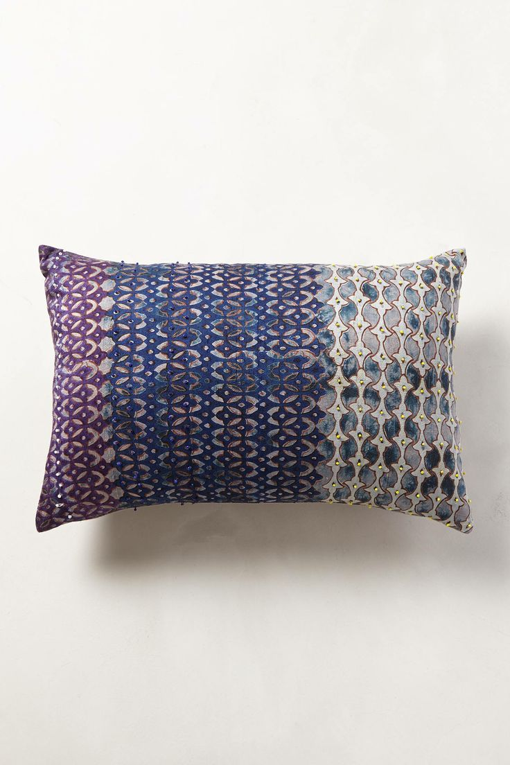 Anthropologie Silk Pondicherry Pillow | Fancy Friday - Adding Personality with Throw Pillows