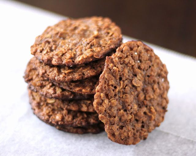 Healthy Thin and Chewy Peanut Butter Oatmeal Cookies [version 1] | Re ...