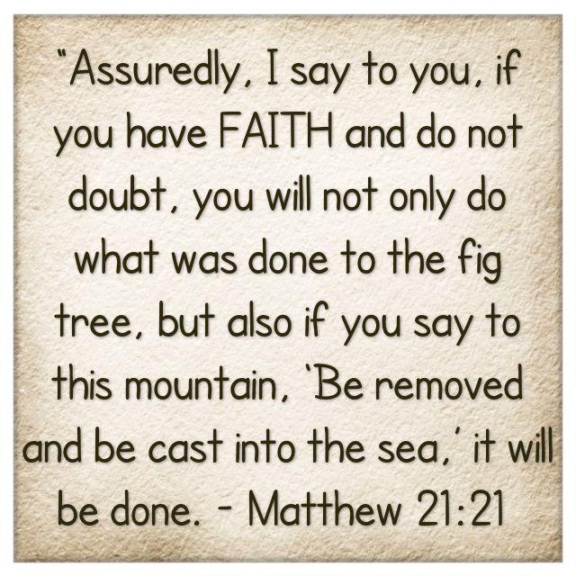 matthew 21:21