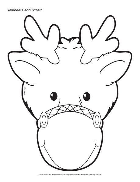 Christmas Pattern: Reindeer Head | Christmas/Winter | Pinterest