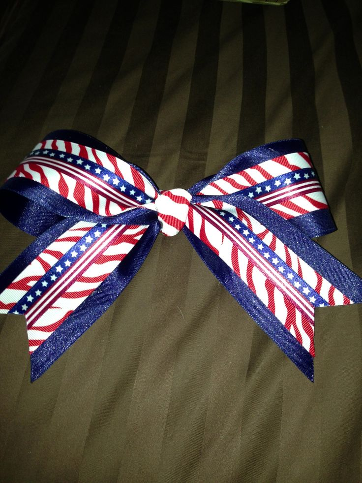 4th of july cheer bows