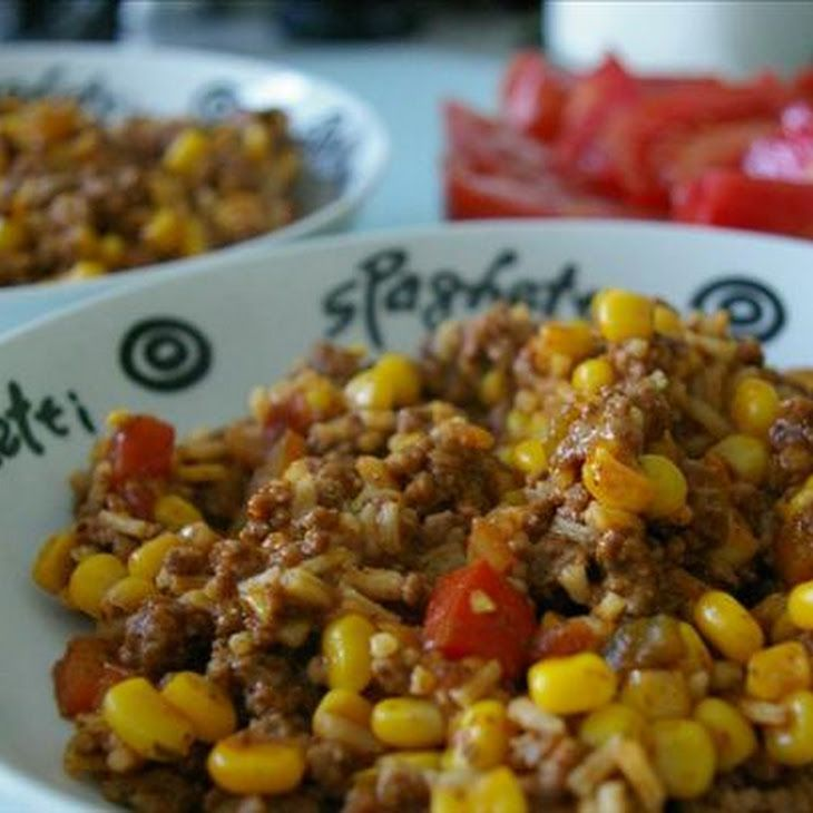 Beef Taco Rice Skillet | week one | Pinterest