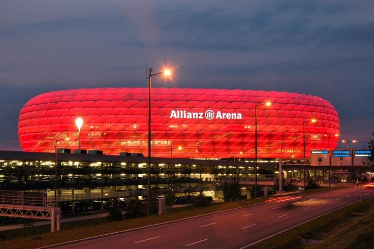 allianz arena at night fc bayern pinterest. Black Bedroom Furniture Sets. Home Design Ideas
