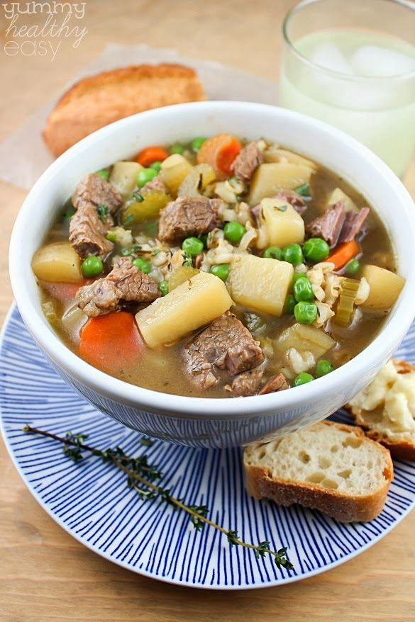The Best Ever Slow Cooker Vegetable Beef Barley Soup | Recipe