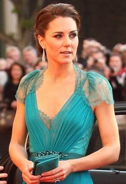 Middleton in emerald green dress love even for a wedding dress idea