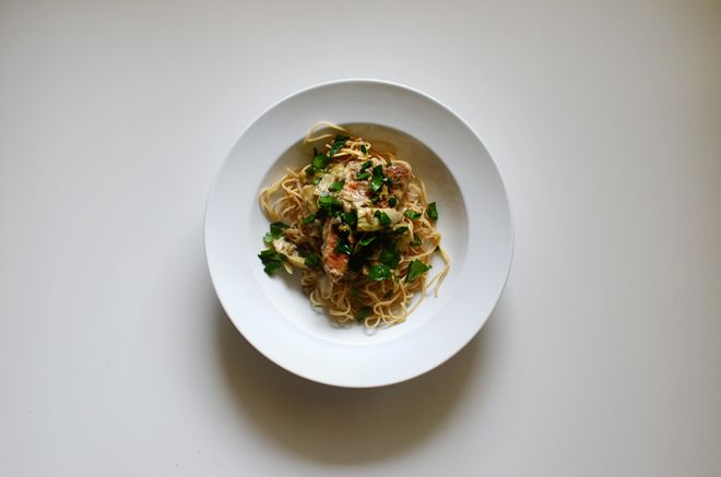 chicken with artichokes and angel hair | Yummy to my Tummy | Pinterest