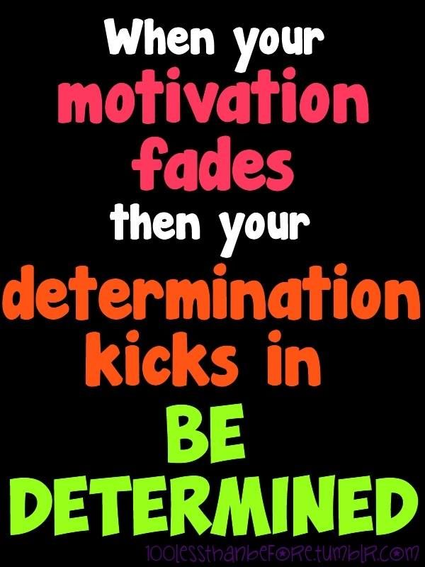 Be determined!