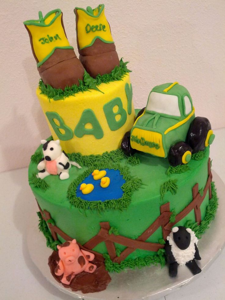 john deere baby shower cake seth and krista pinterest