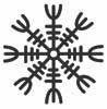 aegishjalmur Another Galdrab  243 k symbol  even more popular in symbolic    Viking Symbol For Invincibility