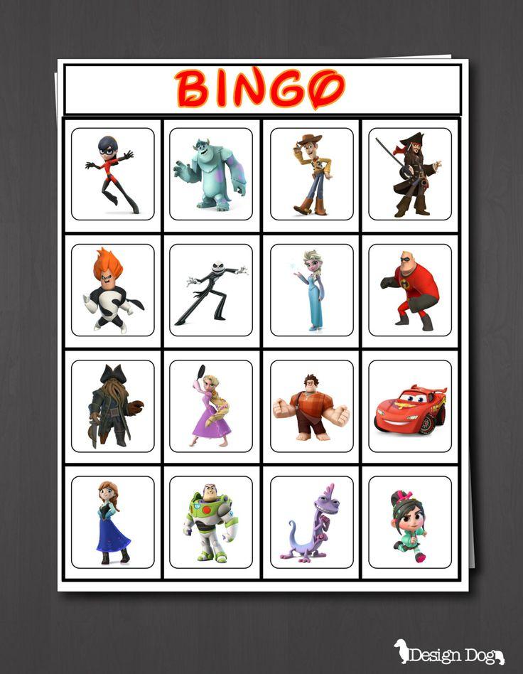 Disney Infinity Birthday Party Bingo Game Set of by TheDesignDog, $8