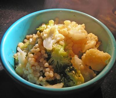 Coconut & Lime: Israeli Couscous with Broccoli & Cauliflower