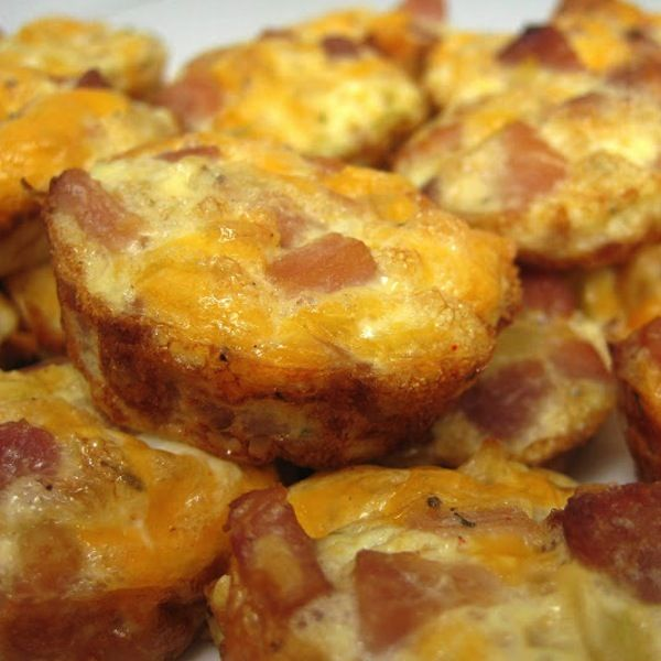 Mini Frittatas with Ham and Cheese | Breakfast Recipes | Pinterest