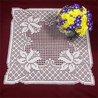 Hearts & Holly Doily, Favorite Filet crochet pattern