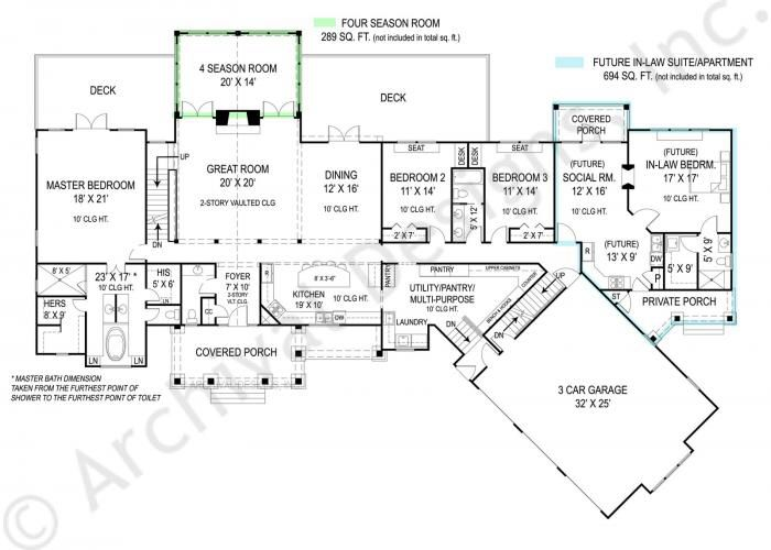 1st floor plans with in law apartment home sweet home Basement in law suite floor plans