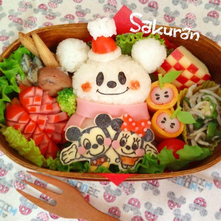 snowman mickey bento | Bento | Pinterest