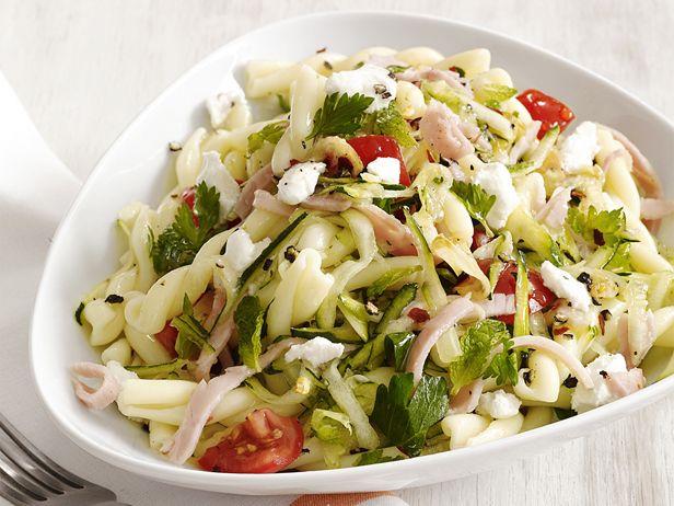 Pasta With Zucchini and Ham #Grains #Veggies #Protein #MyPlate