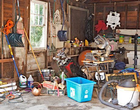 messy garage to organized garage