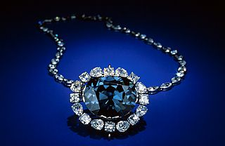 The gorgeous Hope Diamond at the Smithsonian Natural History Museum.