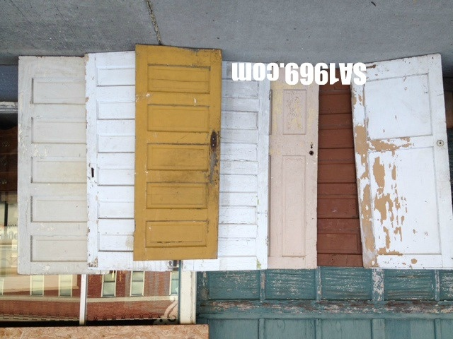 chipping paint doors