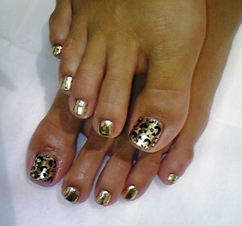 Gold - Animal print toe nails | Fabu Hair, Beauty & Nails ...