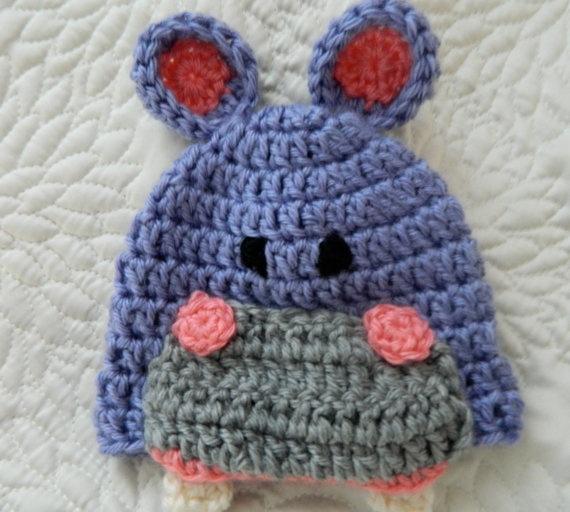 baby hippo crochet hat