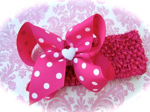 valentine's day hair bows