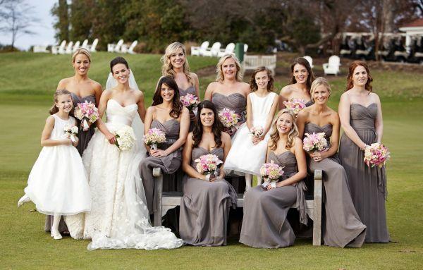 Blush Wedding Dress Grey Bridesmaids : Elegant blush and ivory dc wedding