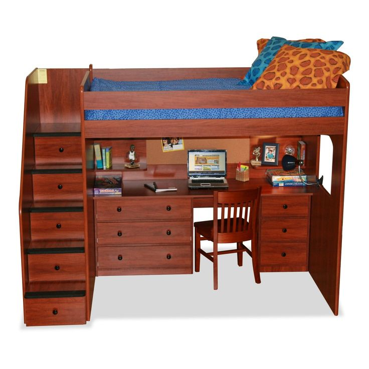 Loft bed full size with desk