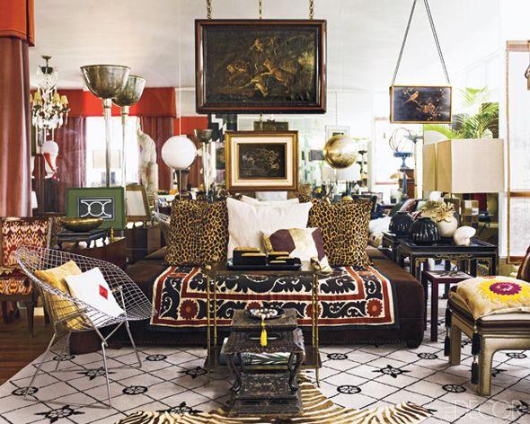 Sartorialist Fabrizio Rollo's apartment inSão Paulofeatured in the December issue of Elle Decor