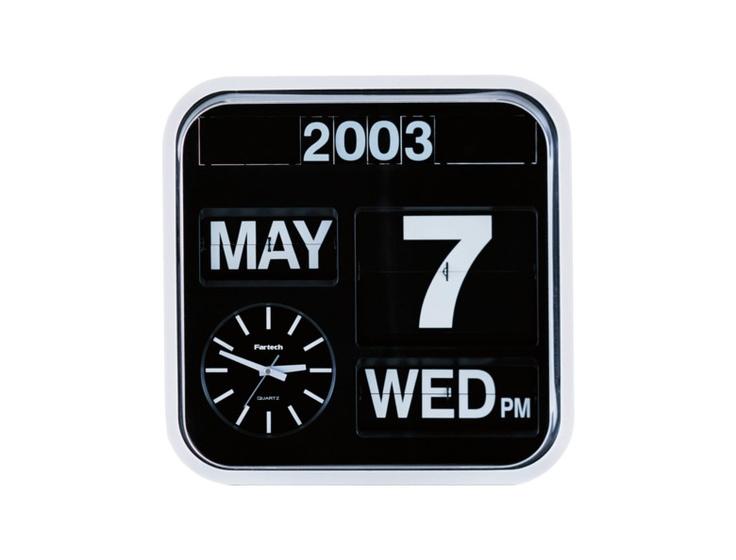 Analogue flap clock