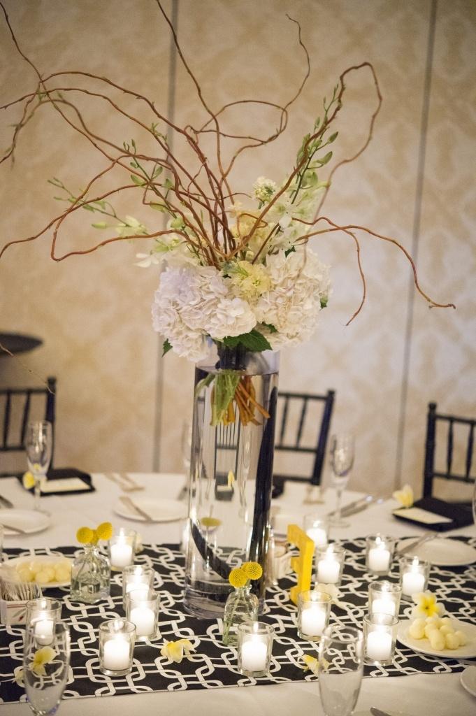 Beautiful centerpiece using branches branch wedding