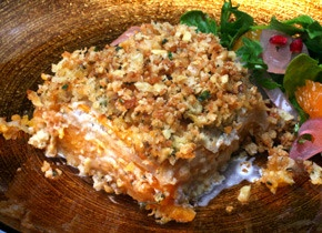 celery root and squash gratin with walnut thyme streusel recipe