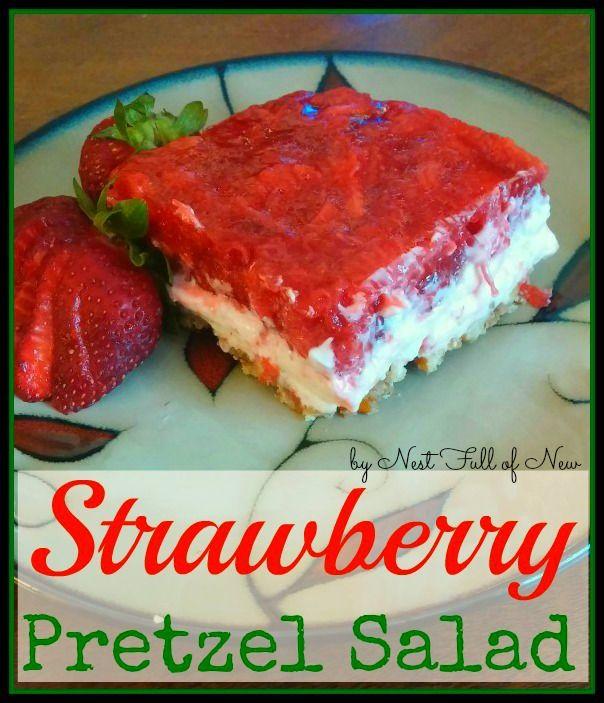 Strawberry Pretzel Salad - super easy! A favorite family recipe that ...