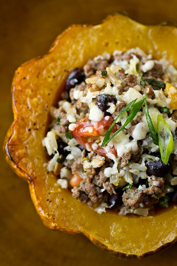 Resolution Meal: Roasted & Stuffed Acorn Squash with Brown Rice ...